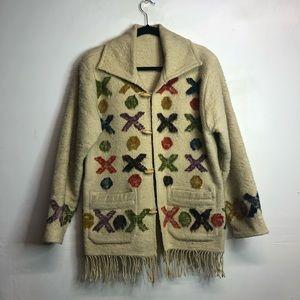 Antique Mexican felt/boiled wool jacket aztec